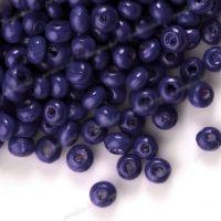 1400 Perles en bois Rondes violet 3x4mm  taille du trou = 1.4 mm