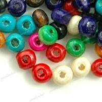 1400 Mixte Perles en bois Rondes 3x4mm  taille du trou = 1.4 mm