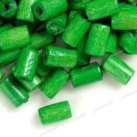 450 Perles en bois Tube vert  8x5mm