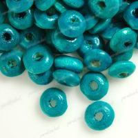 800 Perles en bois Rondelle bleu 3x6mm  taille du trou = 1.6 mm