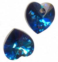 COEURS SWAROVSKI® ELEMENTS 10.3 X 10 CRYSTAL BERMUDA BLUE X 6