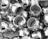 Perles à écraser Gris Argenté 2x2mm  X 1500