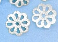 Calotte Coupelles Fleur Argenté 1.5x6.5mm  X 20
