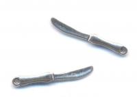 Breloques Couteau en Argent Tibétain 25 x 3 X 2