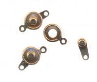Fermoirs Attaches de Collier Bracelet dore clips 9 mm X 10