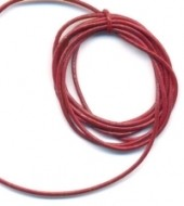 Cordon en Cuir véritable Siam 1.5mm  Qte : 1 metre