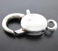 Fermoirs mousqueton d'Argent Tibétain 30 X 16 mm Qte : 5