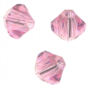 Toupies en crystal 4 mm Light rose X 100
