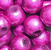 Perles Magiques Miracles Rondes  10mm ROSE FUSCHIA X 5