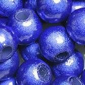 Perles Magiquess Miracles Rondes   10mm BLEU FONCE X 5