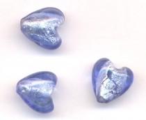 Perle Magique Miracle coeur  14 X 10 BLEU METAL X 6