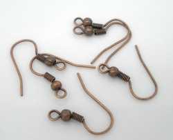 Paires Crochets Supports de Boucle d'Oreille Cuivre rouge  18x19mm X 30 Paires
