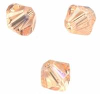 TOUPIES crystal 4mm Light peach X 100