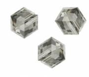 Perles cubes Swarovski 8 mm ( 5601 ) Black diamond X 1