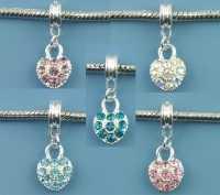 Mixte Pendants Cœur pour Bracelet 26x10mm X 10