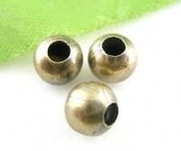 Intercalaires  Lisse Bronze 6mm taille du trou = 2 mm X 10
