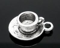 Pendentif Tasse à Café/ Thé 19x15mm X 1