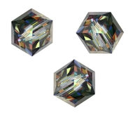 Perles cubes Swarovski 8 mm ( 5601 ) Crystal vitrail medium X 1