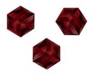 Perles cubes Swarovski 8 mm ( 5601 ) Siam X 1