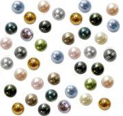 Mixte Couleurs Perles Nacrées en Verre Ronde 4mm  X 50 Perles