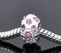 Perles  Strass  11x6mm (trou 5 mm) X 10