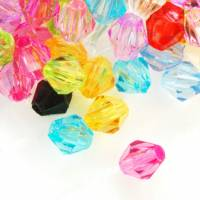Mixte Perles facette Toupie Acrylique 4 mm  Taille du trou 0.8 mm  X 100