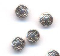 Intercalaires motif étoile 7mm taille du trou = 1 mm x 10