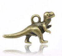 Pendentifs  Dinosaure Couleur bronze 22x12mm X 2