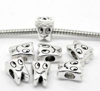 Intercalaires Etoile pour bracelet/chaîne 12x10mm  taille du trou = 3 mm X 5