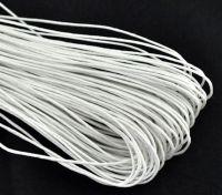 Cordon ciré Blanc 1mm X 1 metre
