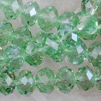 Perles peridot 8 x 6 mm X 70
