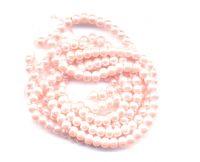 Perles Nacrées  Rondes Rose Tendre 4mm  X 100