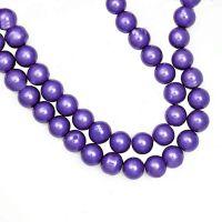 Perles Nacrées  Rondes Violet  4mm   x 100