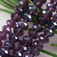 Perles  Violet foncé 6x8mm X 70