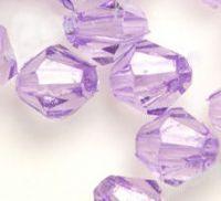 Toupies verre acrylique  4 mm violet X 120