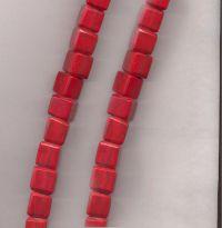 Perles resine cubes 16 mm siam X 5
