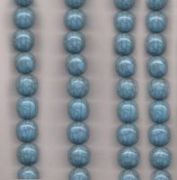 Perles resine rondes 20 mm bleu ciel X 5