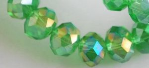 Perles Peridot AB ,3x4mm x 200