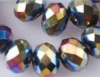 Perles de Cristal Jet AB 3x4 mm X 200