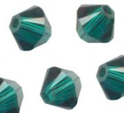 Toupies en crystal 4 mm emerald AB X 120