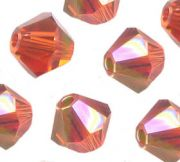Toupies en crystal 4 mm indian red AB X 100