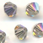 Toupies en crystal 4 mm black diamond AB X 120
