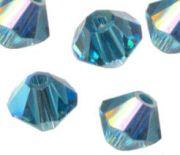 Toupies en crystal 4 mm indicolite AB X 120