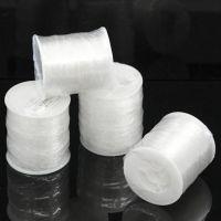 Rouleau de Fil Nylon élastique blanc  pour Bijoux Création 0.8mm  X 100 metres