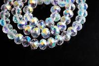 Perles 4 mm  crystal AB X 200