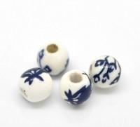Perles  Céramique Motif  6mm  X 10