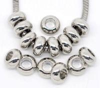 Intercalaires Lisse pour Bracelet Charms 9x5mm taille du trou = 2 mm X 10