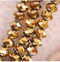 Perles 6x4mm, or perles de Cristal X 98
