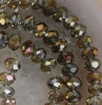 Perles 6x4mm, violet   X 100