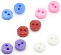 Mixte boutons en résine rond 2 trous 6mm X 50